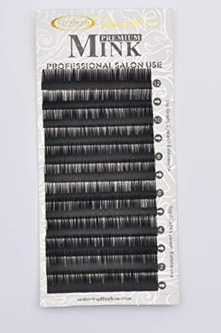 旋律的運ぶアナロジーまつげエクステ 太さ0.10mm(カール長さ指定) 高級ミンクまつげ 12列シートタイプ ケース入り (0.10 11mm C)