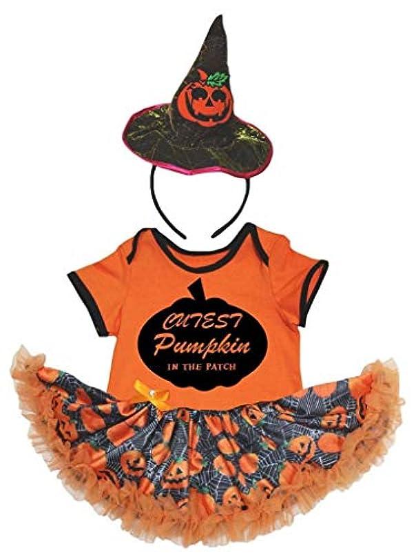 縁石センチメートル穏やかな[キッズコーナー] ハロウィン カボチャ オレンジ パンプキン カボチャ ボディスーツ、子供のチュチュ、ベビー服、女の子のワンピースドレス Nb-18m (オレンジ, Small) [並行輸入品]