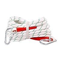 XLEIYI 屋外の安全ロープセット耐摩耗レスキューロープ安全ロープ保護ロープダウンヒルロープロープ16ミリメートル、10メートル、20メートル、30メートルのクリーニング (Color : White, Size : 10m)