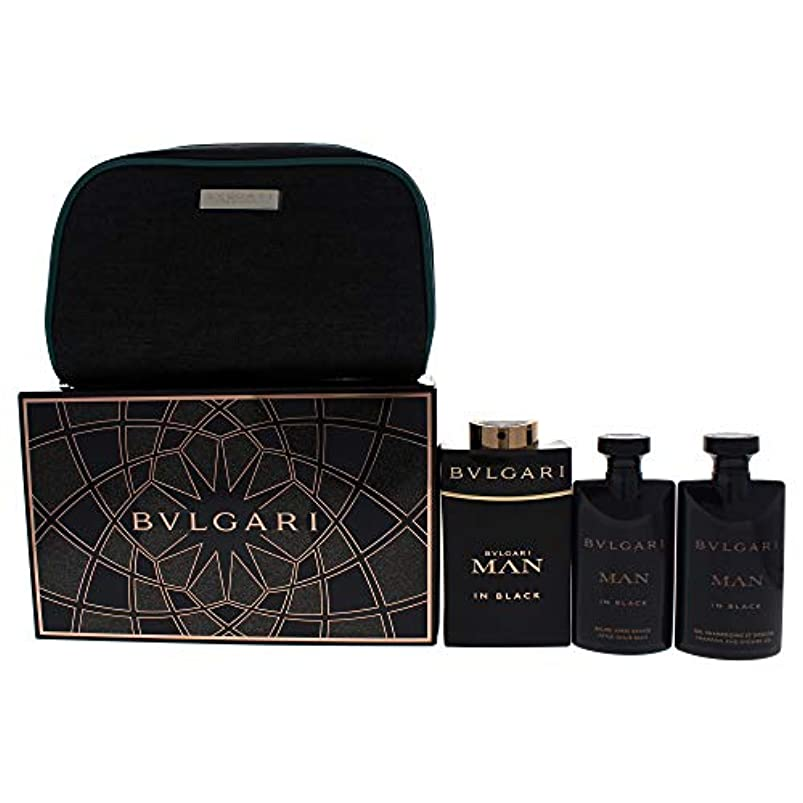 抜粋アリ独占Bvlgari Man In Black Eau De Parfum 100Ml Vaporizador + Gel De Baño 75Ml + After Shave Balm 75Ml