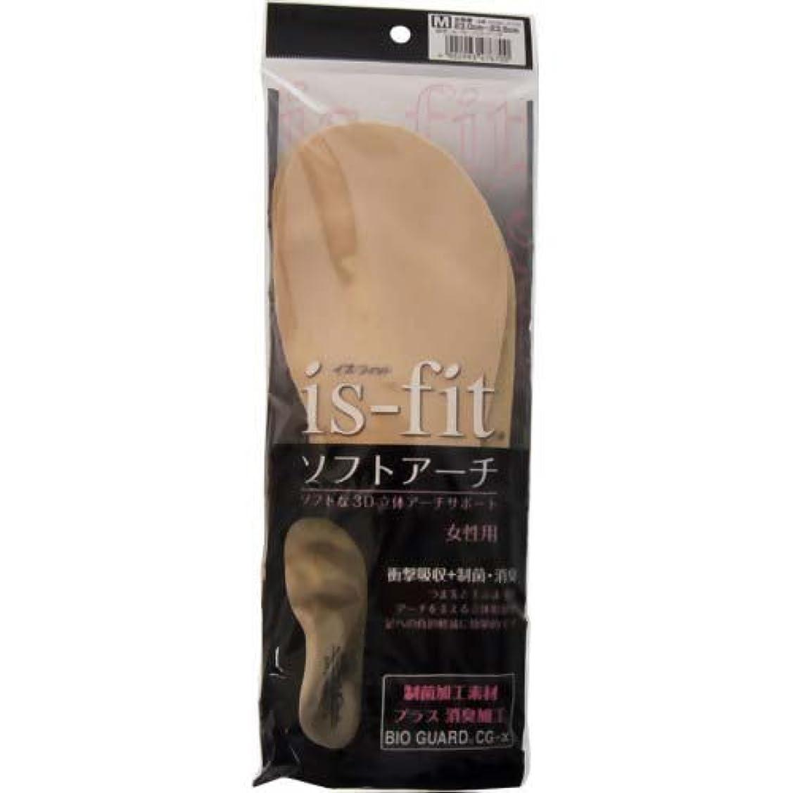 レッドデート妖精活気づくis-fit(イズフィット) ソフトアーチ 女性用 M(23.0~23.5cm)