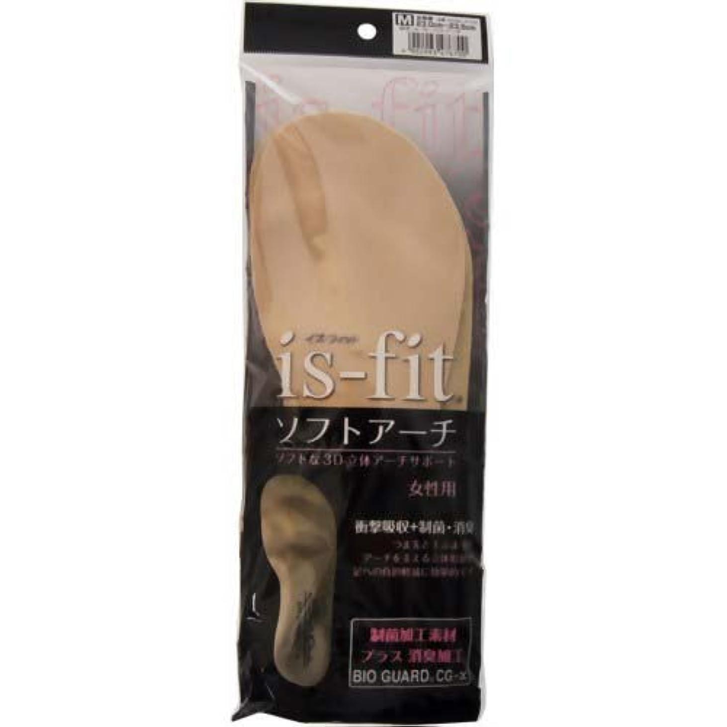 コンパクト仮説報酬is-fit(イズフィット) ソフトアーチ 女性用 M(23.0~23.5cm)