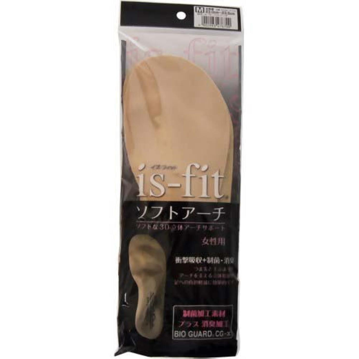 残高さておき癌is-fit(イズフィット) ソフトアーチ 女性用 M(23.0~23.5cm)