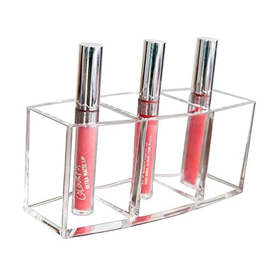 修羅場ラップ助けになる整理簡単 シンプルな美容化粧品と口紅オーガナイザーディスプレイスタンドクリアアクリルグレート収納用マニキュアワニス口紅化粧セットブラシ (Color : Clear, Size : 18*7*8CM)