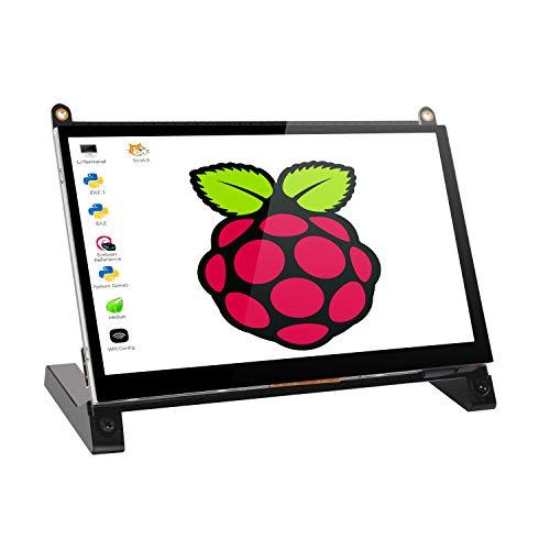 2019最新版 7インチ Raspberry Pi用タッチモニター/ディスプレイ/モバイルモニター/モバイルディスプレイ/HDMI端子/Raspberry Pi 1/2/3 Model B A+ B+ BB Black Banana Pi Windows 10 8 7対応