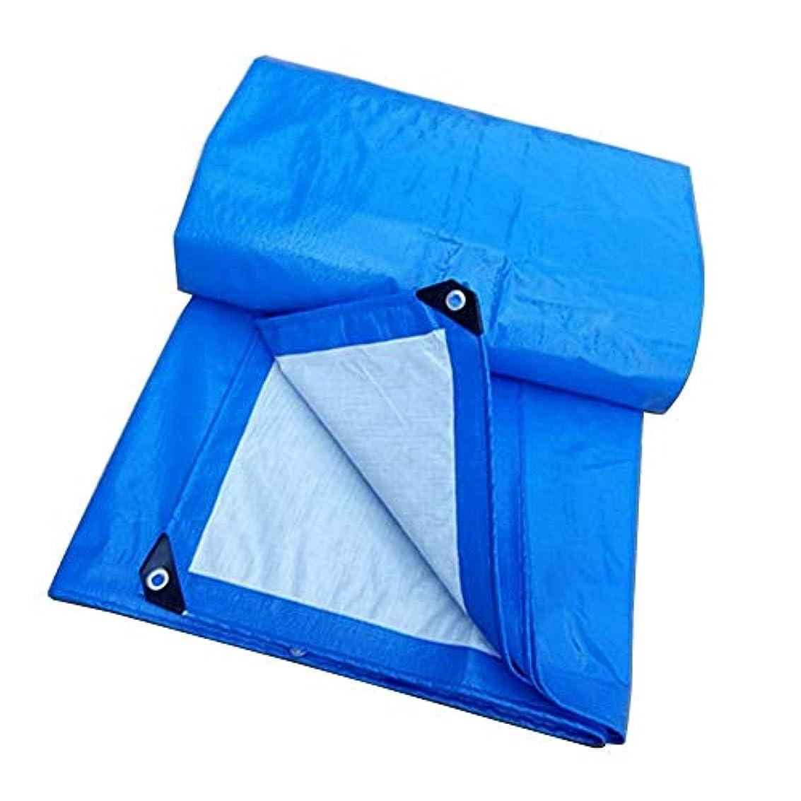 二追跡マート防水シート防水頑丈なPEの防水シート多目的多防水シートカバー地上のテントのトレーラーカバー材料 FENGMIMG (色 : 青, サイズ さいず : 4×10m)