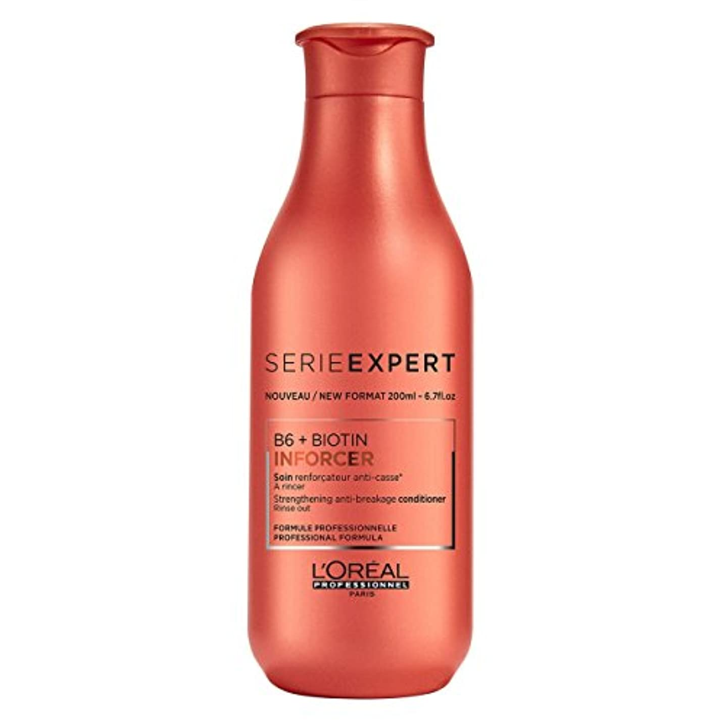 手伝う仲間注入L'Oreal Serie Expert B6 + Biotin INFORCER Strengthening Anti-Breakage Conditioner 200 ml [並行輸入品]