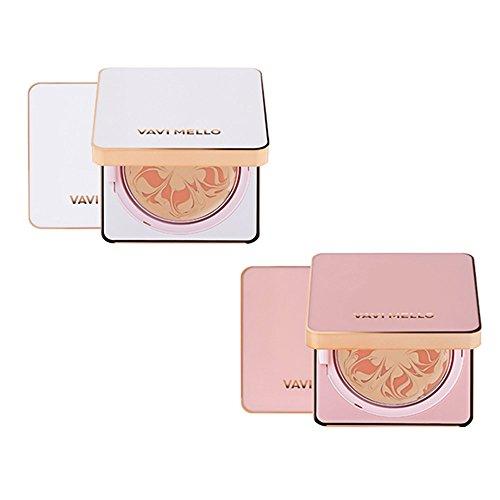[ボビーメロ]Vavimello ピンクピーチマーブルファクトケース+本品14g SPF50+ PA++++ カバーファンデーション+ピンクエッセンス 海外直商品 Pink Peach Marble Pact 14g (Pink(case)/Light Beige) [並行輸入品]