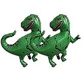 FLAMEER 4個 恐竜風船 誕生日ギフト グリーンtレックス