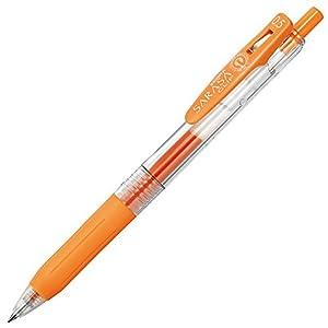 ゼブラ ジェルボールペン サラサクリップ 0.5 オレンジ 10本 B-JJ15-OR