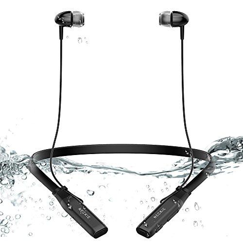 Bluetoothイヤホン Esonar ワイヤレスイヤホン ネックバンド型 IPX5 防水防滴仕様 ブルートゥースイヤホン 高音質 純正通話 内蔵マイク 重低音スポーツイヤホン 超軽量 フィット感抜群 8時間連続再生可能 iPhone&Android スマートフォン対応 通勤・通学に最適ステレオイヤホン (無線のみ)