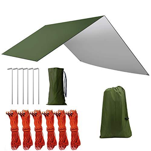 Kwister タープヘキサ 天幕 キャンプ タープ シェード 防水 日除け UV 紫外線 カット 遮熱 軽量 収納袋付き 4-6人用 B07RXY55LJ 1枚目