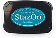 Tsukineko SZ000063 Teal Blue Staz On- Solvent Ink pad