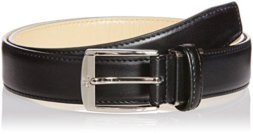 (クレージュ)courreges(クレージュ) 牛革 ビジネスベルト ピンタイプ メンズ 紳士用 レザーベルト フリーサイズ サイズ調整可 ビジネス ドレス CU-BP 012BK ブラック FREE