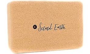 Second Earth 2E 'Levitate' Cork Yoga Block - 100% cork, sustainable, natural, eco-friendly