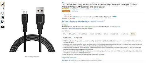 【5本セット】iXCC Micro USB ケーブル マイクロ usb ケーブル 高速充電ケーブル 2.4A急速充電 高速データ通信 Xperia Nexus Samsung Android 各種スマートフォン対応 24ヶ月保証 1m※米国Amazonで星五つ6500件獲得※