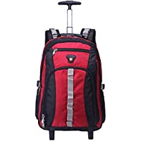 TONGSH Large Storage Laptop Students Multifunction Waterproof Wheeled Rolling Backpack Flight Case Double Shoulder Bag Mixed Hand Luggage Wheel Trolley Travel Business Boarding Men and Women Travel