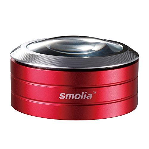 スモリア 使い方簡単LED付卓上ルーペ レッド 3R-SMOLIA-RD