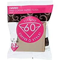 HARIO (ハリオ) V60 用 ペーパーフィルター 01M 1~2杯用 100枚入り みさらし VCF-01-100M