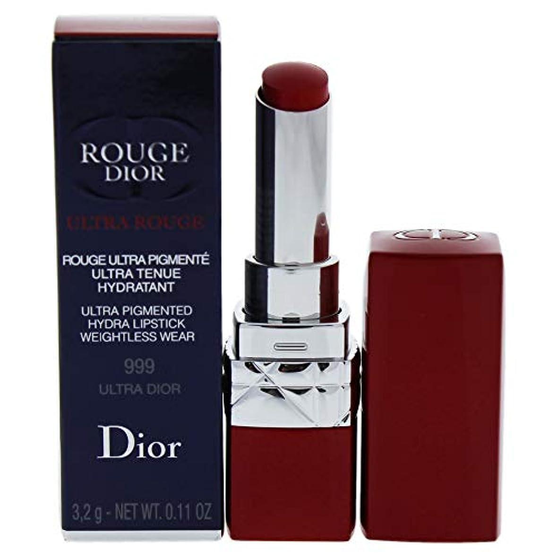 ほとんどない倫理六月クリスチャンディオール Rouge Dior Ultra Rouge - # 999 Ultra Dior 3.2g/0.11oz並行輸入品