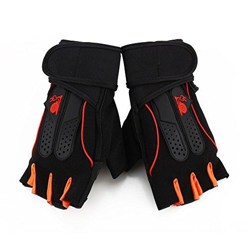 1ペアスポーツジム手袋メンズレディースフィットネス練習トレーニング半分指ボディワークアウトアンチスリップウエイトリフティンググローブ