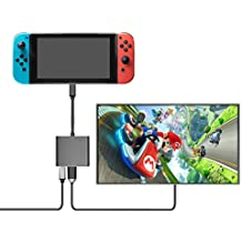 Nintendo Switch変換アダプター Younik 任天堂スイッチType C to HDMI 変換アダプター 3 in 1 HDMI+USB+Type-C変換器ドッグ不要高速充電対応ニンテンドースイッチ/Samsung Galaxy S8/S8P/MacBookに対応