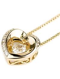 Fascino.(ファシーノ) K18金 オープンハート ネックレス 女性の美しさを引き立てる ゴールド CZダイヤモンド キュービック ジルコニア 人気 ペンダント 専用BOX付き