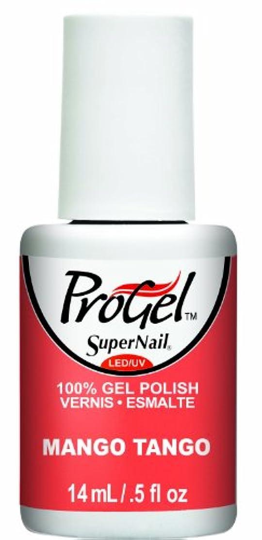 ラフ睡眠抜粋ポンペイSuperNail ProGel Gel Polish - Mango Tango - 0.5oz / 14ml