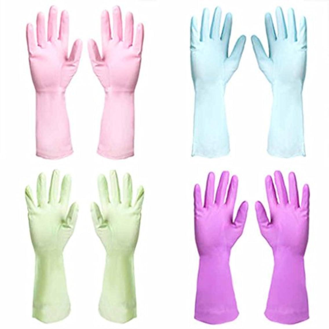認識ずんぐりした六使い捨て手袋 PVC防水性と耐久性の手袋キッチン油耐性汚れ手袋