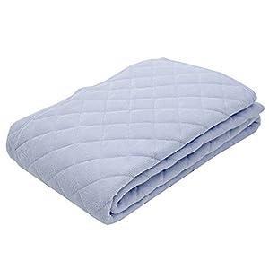 東京西川 敷きパッド シングル 洗える タオル調 綿100% パイル さらさら シャリシャリ爽やか触感 ブルー