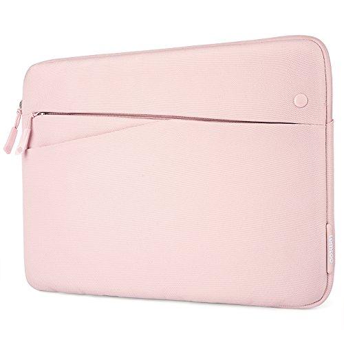 "tomtoc 10.5インナーケース 10.5"" iPad Pro | 9.7""New iPad 2017 | iPad Air 2 | 2018 Surface Go | Samsung Galaxy Tab 対応 スリーブバッグ ERS スリム カバー フィルム対応、アクセサリーポケット付き、Apple Pencil  Smart Keyboard 対応、ベビーピンク"