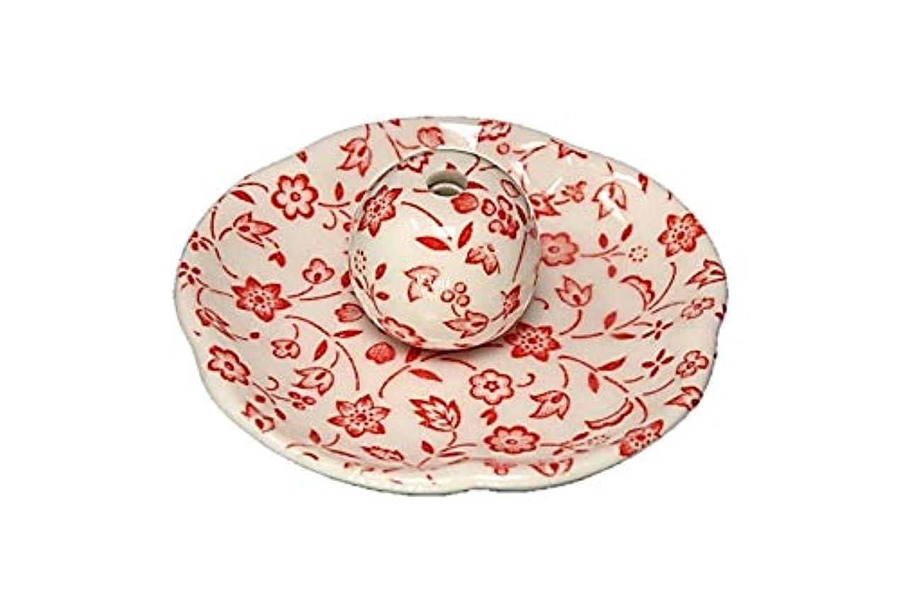 突破口視線細心の赤小花 花形香皿 お香立て お香たて 日本製 ACSWEBSHOPオリジナル
