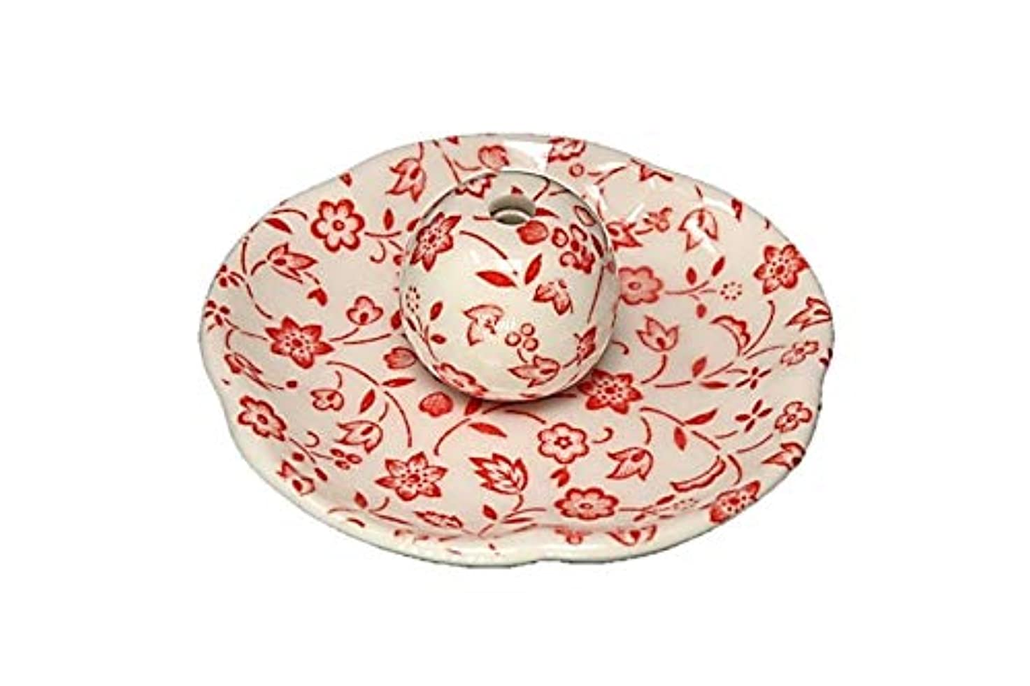 騒素晴らしさ秀でる赤小花 花形香皿 お香立て お香たて 日本製 ACSWEBSHOPオリジナル