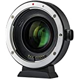 VILOTROX マウントアダプター EF-EOS M2 0.71X スピードブースター AF 絞り調整可 手振れ補正対応 キヤノンEFレンズ→キヤノンEOS Mマウントカメラに装着 EOS M/EOS M2/EOS M3/EOS M5/EOS M6/EOS M10/EOS M50/EOS M100などに適用