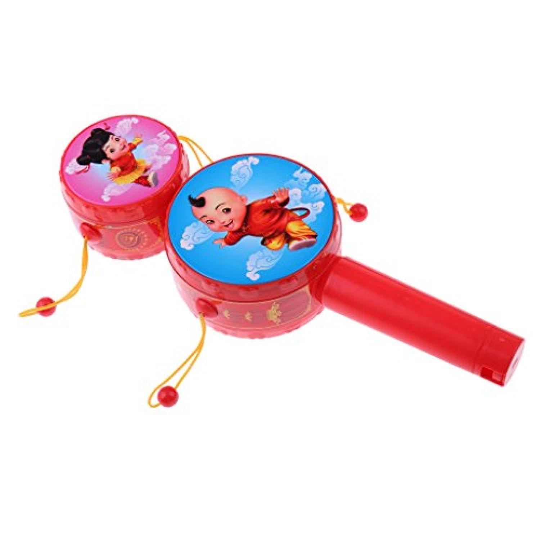 SONONIA 子供 プラスチック製 ラトル ドラム 楽器 早期学習玩具 ダブルドラム