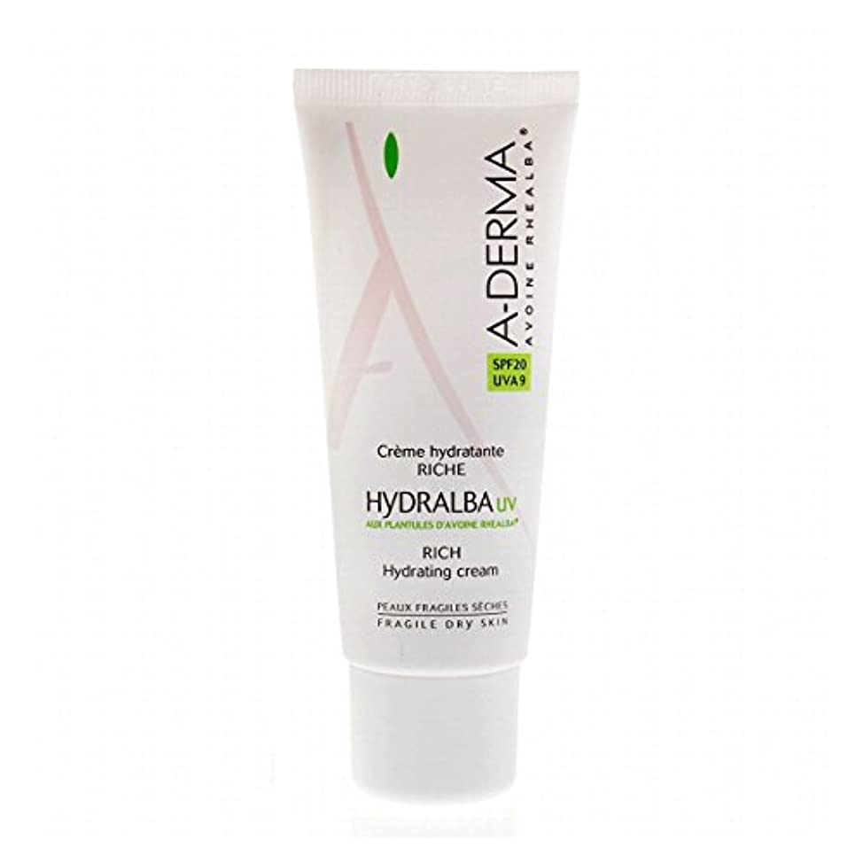 許される隣接聴衆A-derma Hydralba Uv Rich Hydrating Cream 40ml [並行輸入品]