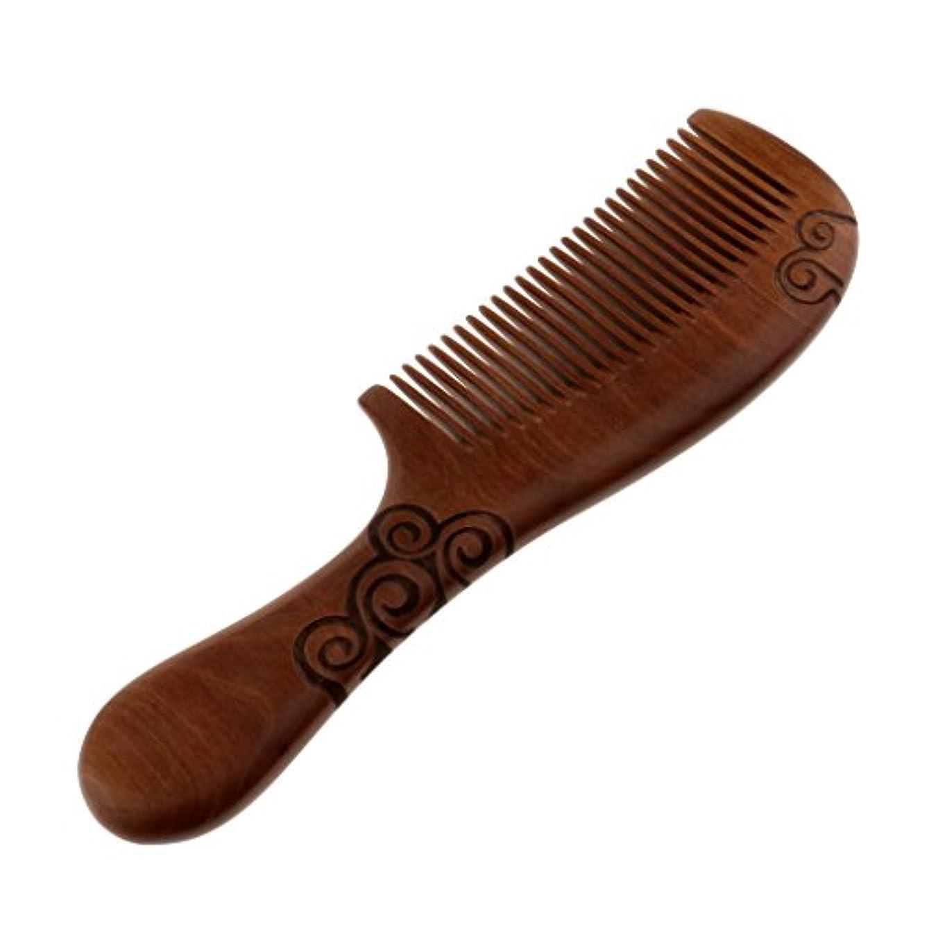 あたり魅力休暇くし コーム 木製 ヘアコーム 櫛 コーム サンダルウッド製 帯電防止 頭皮マッサージ