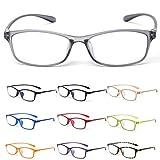 MIDI-ミディ 10カラーで遊べる老眼鏡 【Colors】 おしゃれ レディース メンズ ブルーライトカット クリアブラック (M-209,C3,+1.50)