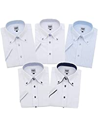 (ハビラモード)HAVILAH MODE ワイシャツ 半袖 5枚セット メンズ 形態安定 H101-H105 S M L LL 3L 4L 5L 6L