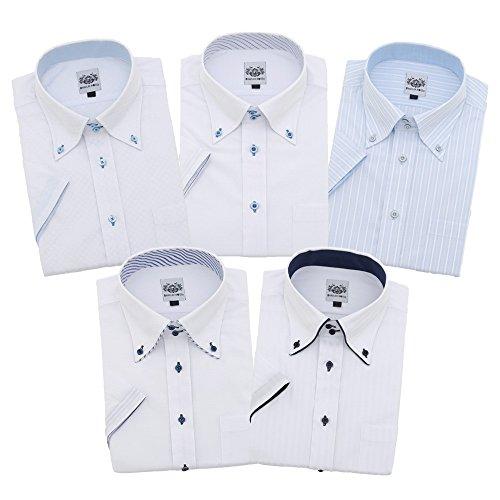 (ハビラモード) HAVILAH MODE ワイシャツ 半袖 単品 5柄 メンズ 形態安定 H101-H105 S M L LL 3L 4L 5L 6L