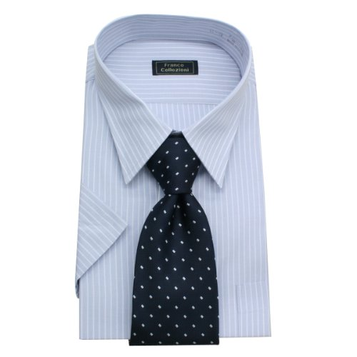 (フランコ コレツィオーニ)Franco Collezioni ビジネス用セット No.42 (ワイシャツ、ネクタイ) 50275-3,10450-1 50386  マルチカラー S