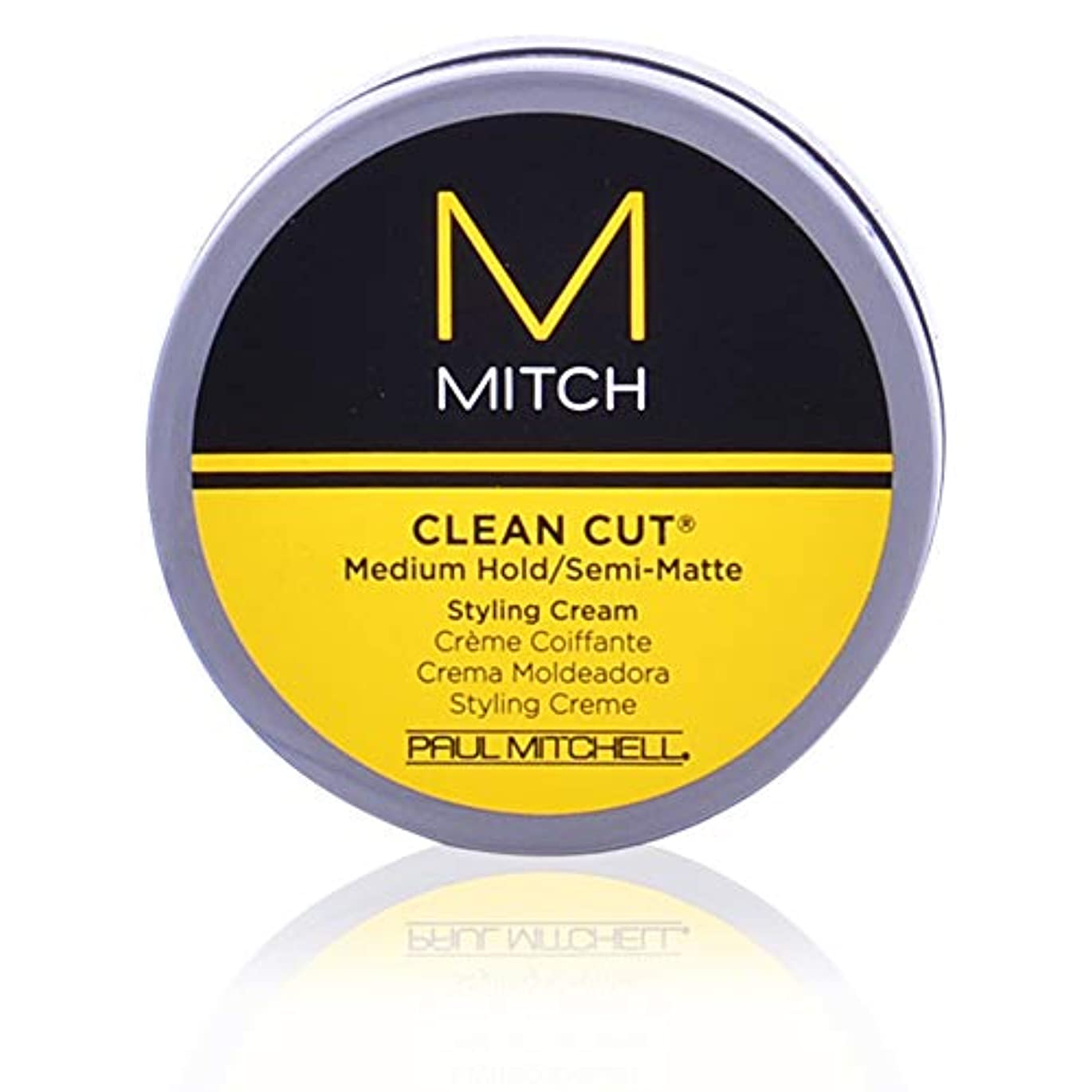密喉が渇いた不正確Mitch Clean Cut Medium Hold/Semi-Matte Styling Cream