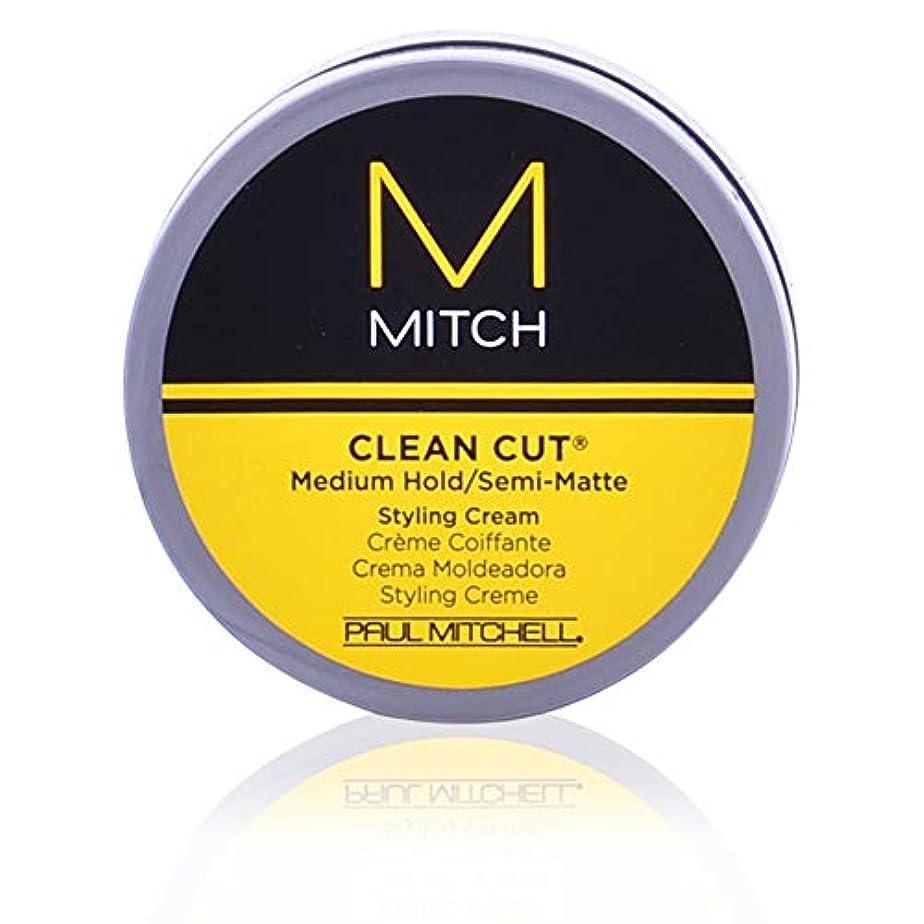 スラダム落ち着く雄弁Mitch Clean Cut Medium Hold/Semi-Matte Styling Cream