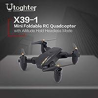 Ququack Utoghter X39-1ミニ折りたたみ式RCクワッドコーンドローン高度ヘッドレスモードホールド