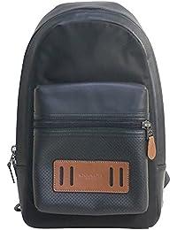 029c08a2132a メンズ ブラック 本革 バッグ COACH リュックサック ダークサドル バックパック コーチ アウトレット F56876 FD7