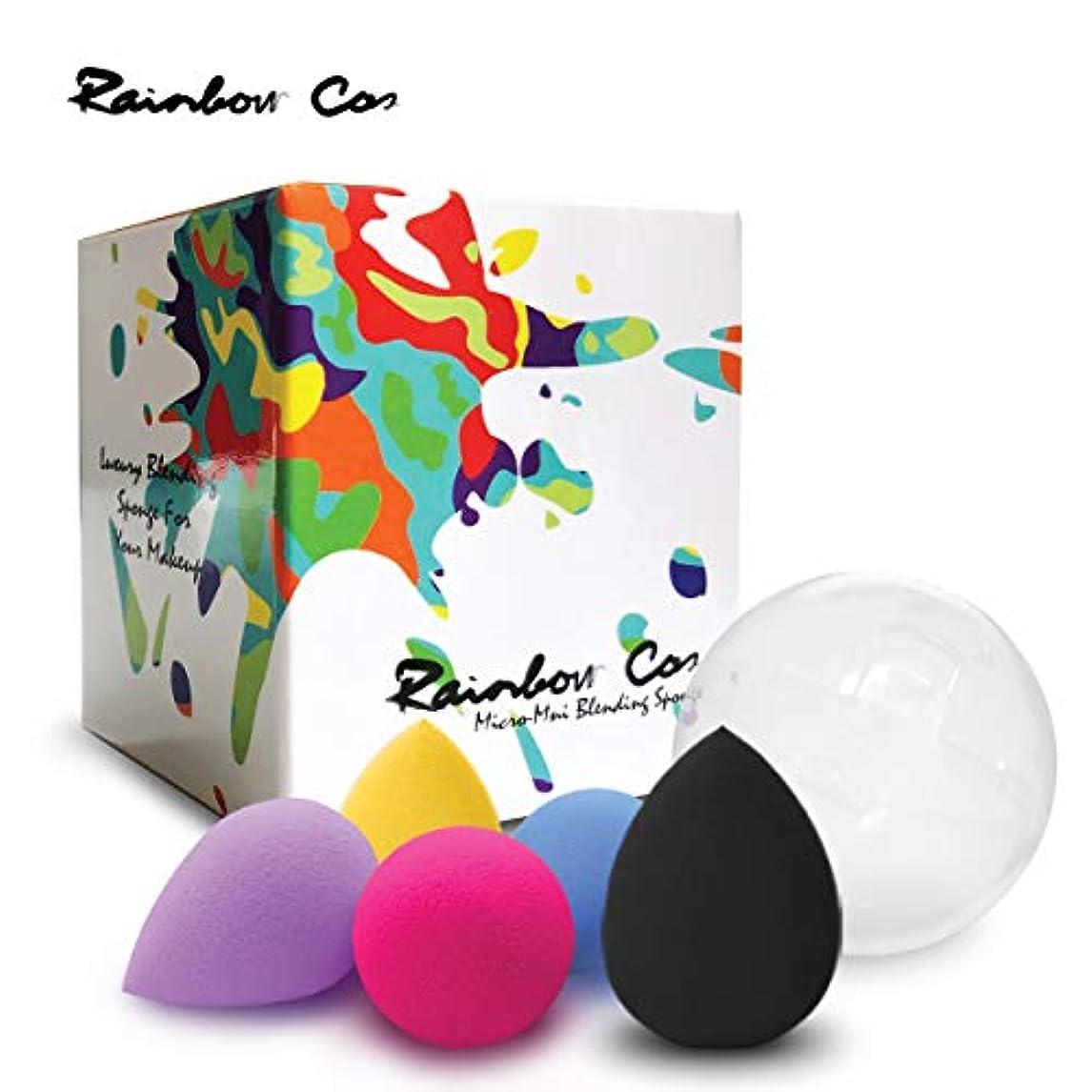 素晴らしきひどいパットRainbow Cos 5 PCS Micro Mini Makeup Blender Beauty Sponge set, Foundation Blending Sponge,Flawless for Liquid,...