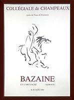 ポスター バゼイン Collegiale De Champeaux 1976 額装品 ウッドベーシックフレーム(ブラウン)
