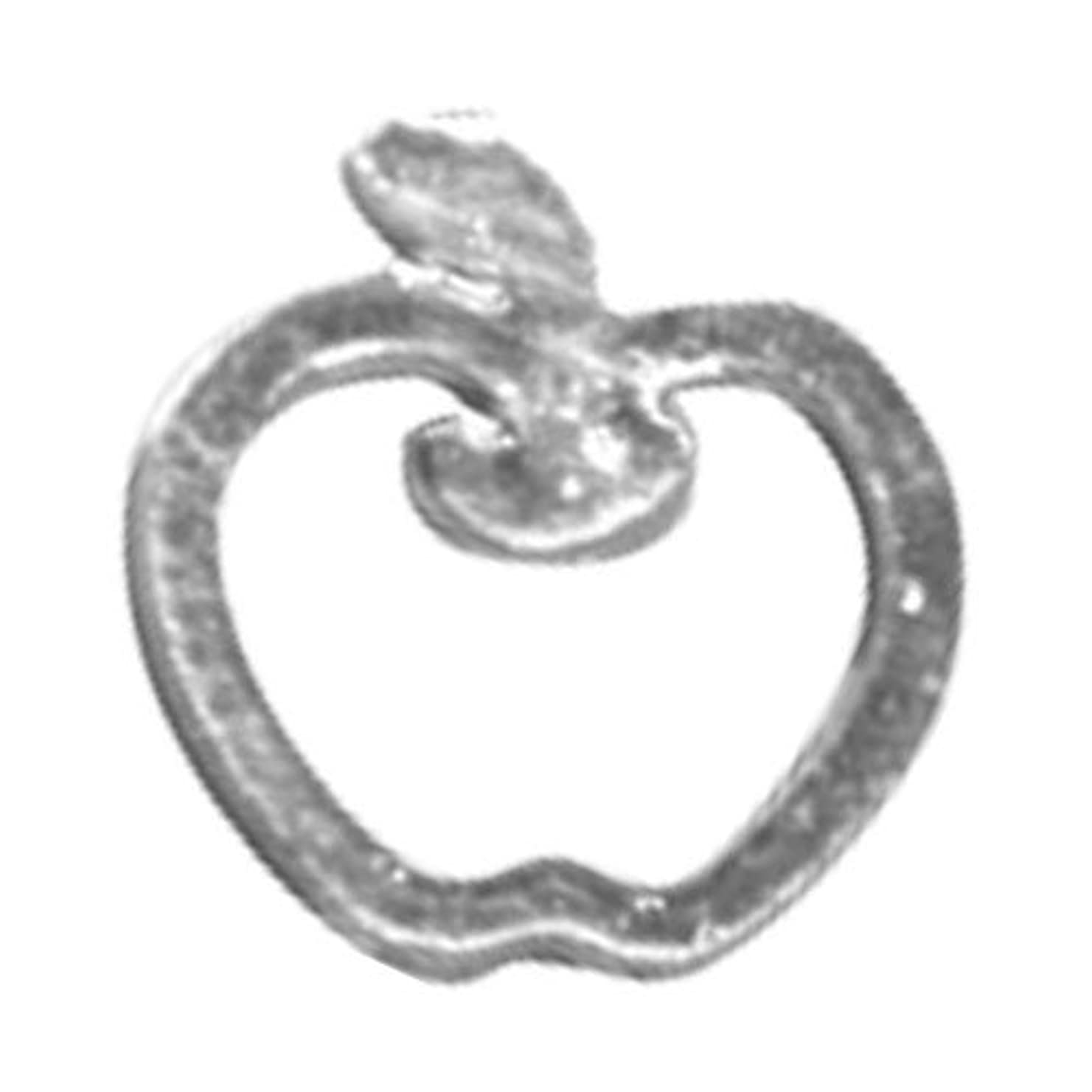 悪の不規則な候補者リトルプリティー ネイルアートパーツ リンゴ SS シルバー 10個