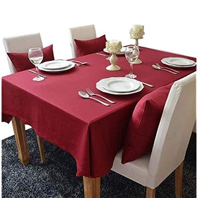 YAHUO テーブルクロス ティーテーブ クロス 食卓カバー コットン 長方形 ファッション ヨーロッパ 田園風 レッド