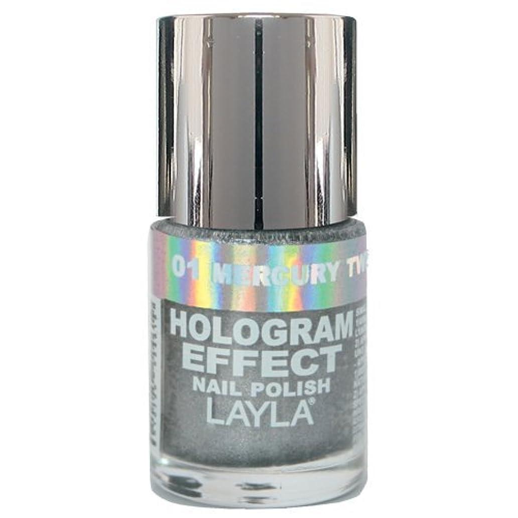 沿って羊十年Layla Cosmetics Hologram Effect Nail Polish Mercury Twilight 10ml
